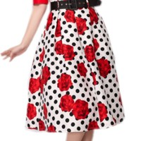 YSMARKET Flower Dot African Print Skirt Puff High Waist Clothing Summer Vintage Style Skirts A Line
