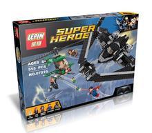 555pcs 2016 LEPIN 07019 superhero Superman vs Batman Justice Hero Aerial battle DC Comics minifigure educational building blocks