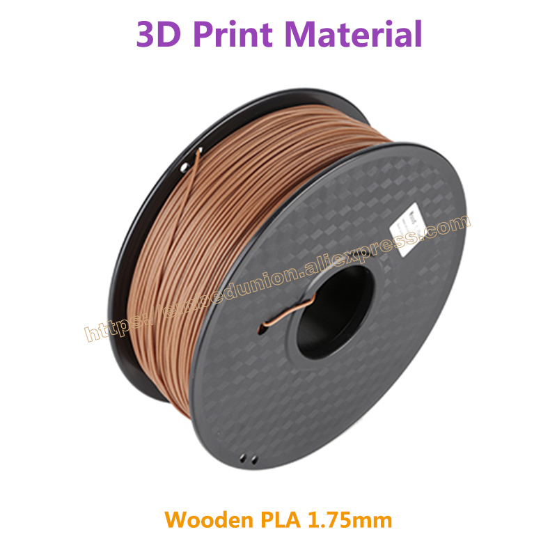 RQ Wooden 3D Printer Filament PLA 1.75mm 3D wood Printing Materials 1KG Plastic Rubber Consumables Material pla filament 3 00mm 1kg 2 2lbs white color for 3d printer plastic reprap wanhao makerbot free shipping