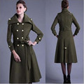 2016 Autumn Winter Brand graceful Woolen Overcoat Women fashion long trench plus size tuxedo manteau femme coats Jackets