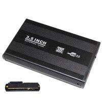 New 3 5 Inch USB 2 0 SATA External HDD HD Hard Drive Enclosure Case Silver