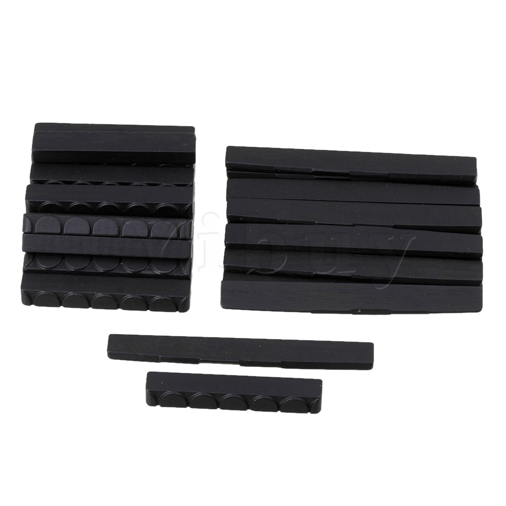 Yibuy 50 x Classical Guitar Ebony 6 String Saddle & Nut Wood Guitar Black savarez 500arh classical corum standard tension set 024 042 classical guitar string