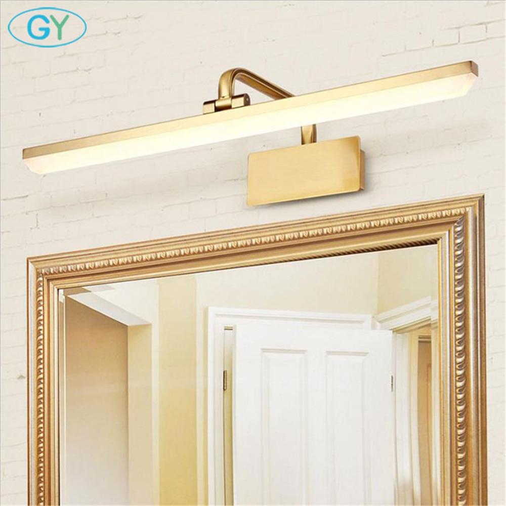 Us 49 99 gold l40cm l50cm l60cm l70cm led cabinet light modern bathroom mirror lights home vanity lighting lampa kosmetyczna espelho luz in vanity