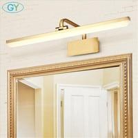 New Gold L40cm L50cm L60cm L70cm led cabinet light Modern 110V 220V bathroom mirror front lamp vanity toilet decor wall lighting