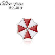 New Fashion Resident Evil The Umbrella Chronicles Enamel Brooches Kerst  Christmas Gift Silver Plated Women Badge Brooch Pins 2cd48e1f4ce7