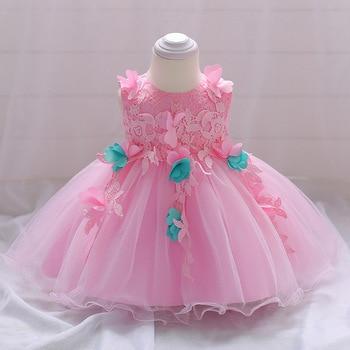 81ea34914ec 1 año bebé niña vestido bebé niña vestidos de cumpleaños para niñas niños  ropa de fiesta de boda recién nacido bebé princesa vestidos