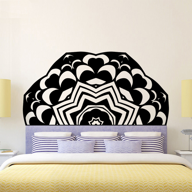 Creative Headboard Wall Sticker Wallpaper Bed Bedside Mandala Vinyl