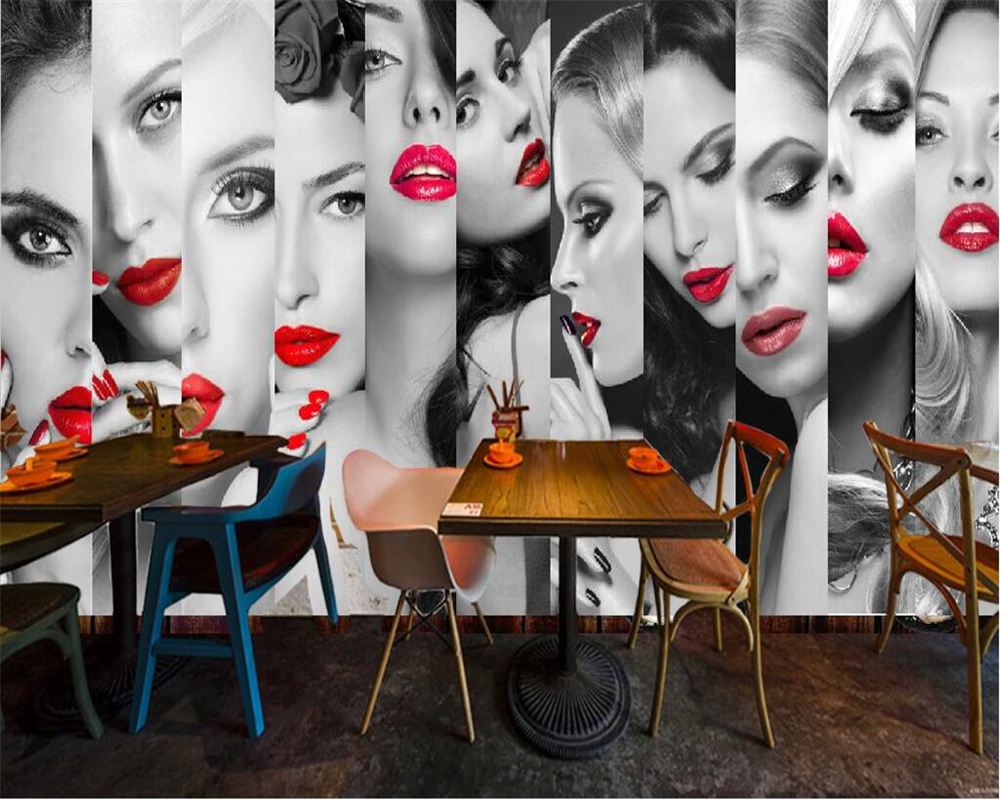D Fashion Beauty Supply: Beibehang Customize Any Size Wallpaper Murals Fashion Red