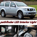 6 X Erro Free Car LED Brilhante Luzes Interior Mapa Dome Porta Do Veículo Kit de acessórios Pacote para nissan Pathfinder 2005-2012