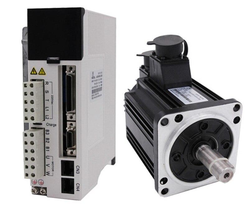 Kw 1300 w 110mm 4Nm 3000 rpm AC Servo Moteur & drive kit avec 3 m câble 20Bit 3 phase AC220V JMC 110JASM513230K-20B + JASD15002-20B