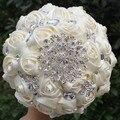 Новое Прибытие ДЛЯ ВЫБРАТЬ Цвет Искусственные Цветы Свадебный Букет Кристалл Свадебные Букеты