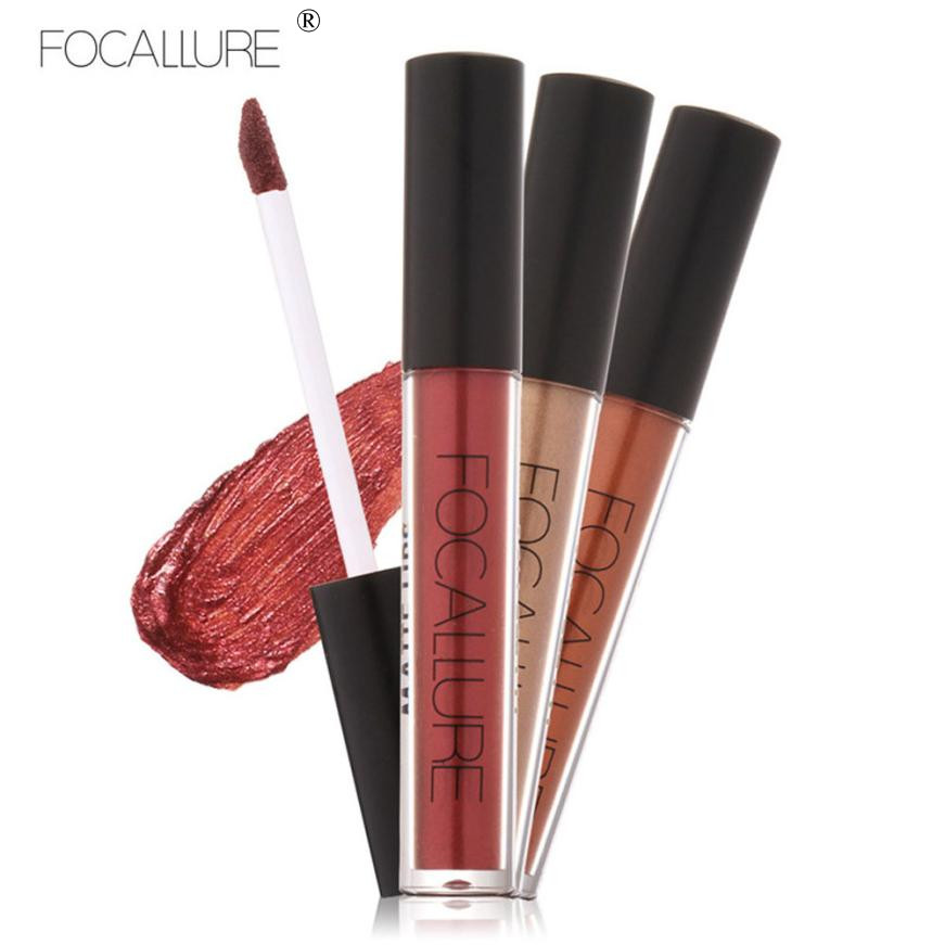 FOCALLURE Charming Fashion Lipstick Cosmetics Women Sexy font b Lips b font Metallic font b Lip