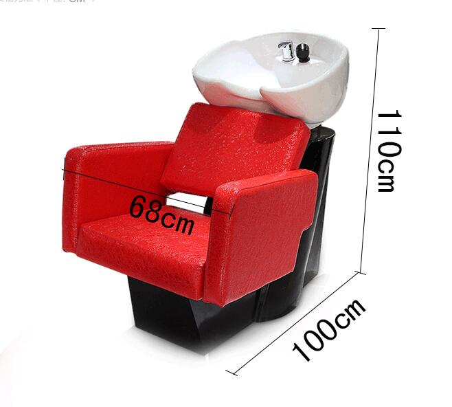 Hot Sell Glass Reinforced Plastic Shampoo Bed Wash Hair Salon Special Half Reclining Hair Wash Bed2