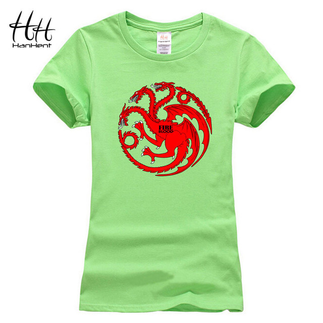 Game Of Thrones Dragons 100% Cotton Short Sleeve Women's T-Shirt