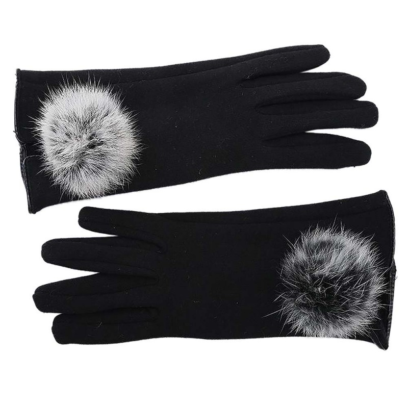 Stylish and Comfortable Touch Screen Gloves made of Cotton with Lace for All Touch Screen Device Suitable for Winter 3