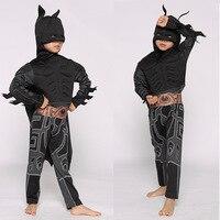 2017 New Deluxe Muscle Dark Knight Batman Women Dresses Halloween Party Fancy Dress Boys Superhero Carnival
