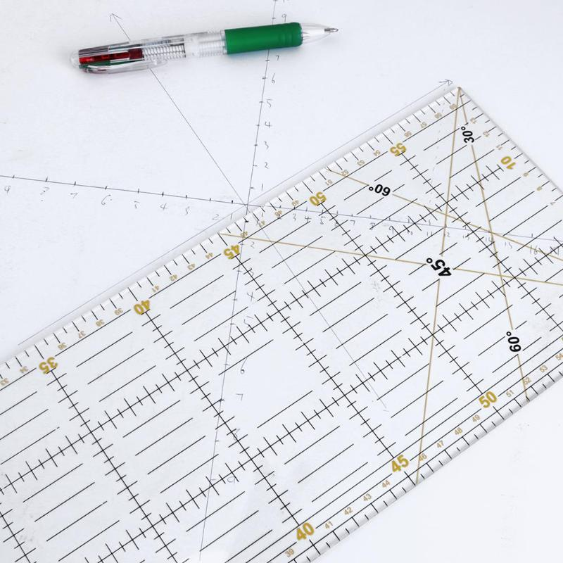 DIY Transparent Acrylic Cloth Rulers Patchwork Ruler Handmade Quilting Ruler Seam Sewing Patchwork Drawing Rulers 15*60cm