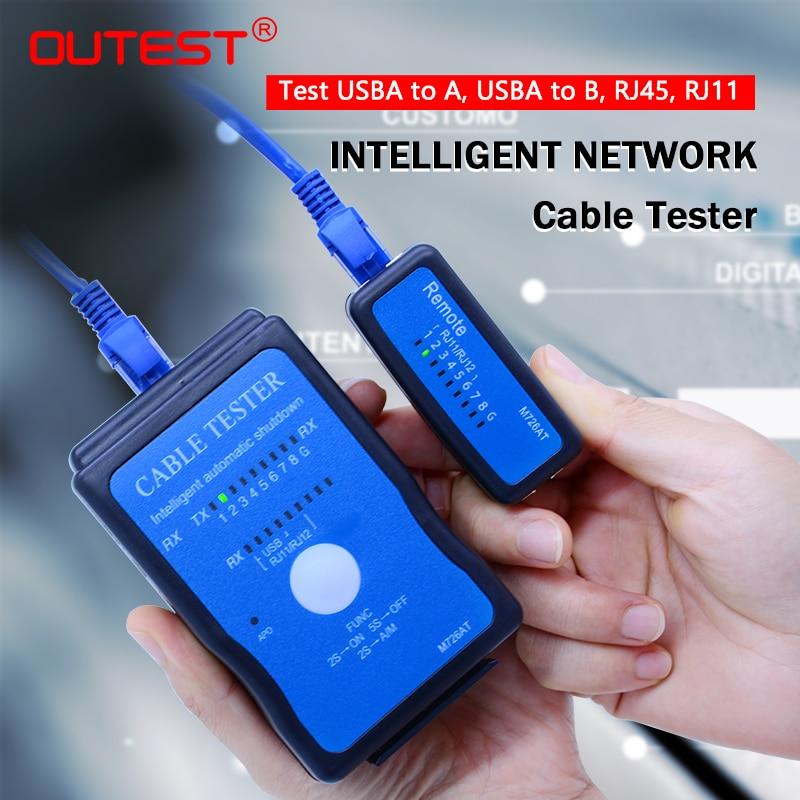 все цены на Wholesale M726AT Network cable Tester LAN USB Ethernet Network RJ-45 Cat5 RJ11 cable finder