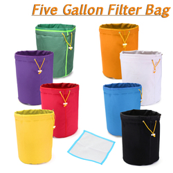 Single 5 Gallon Multi-color Bubble Hash Herbal Filtration Bag Micron Sizes +Free Pressing Screen Plant Residue Filter Bubble Bag