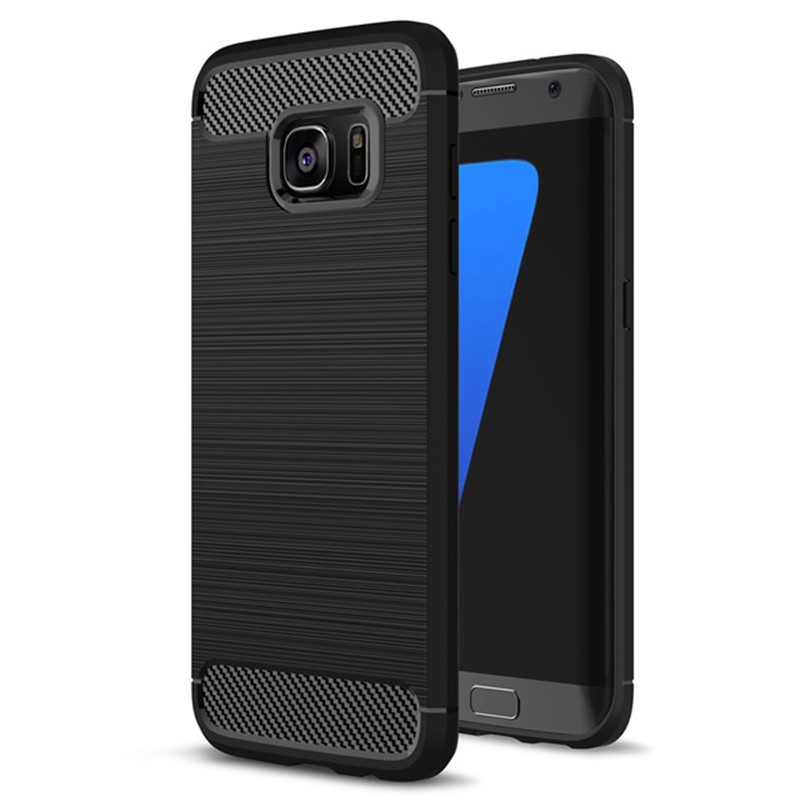 Galleria fotografica Luxury Soft Carbon Silicon Cases for Samsung Galaxy J5 2016 Case A5 2017 Cases for Samsung Galaxy A3 2017 S6 S7 edge S8 Case 35