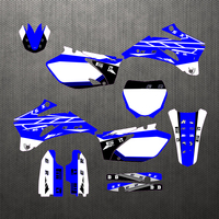 Full set Sticker Kit Customized Number Graphics Backgrounds Personality Decals For Yamaha YZF250 450 YZF 250 2006 2009 2007