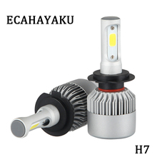 ECAHAYAKU 2x Car Accessories S2 Led Headlights Light Bulb H7 H1 H4 H11 9005 9006 led 6500K FOR jeep truck 4x4 SUV ATV