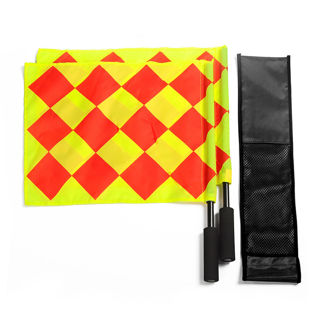 2Pcs Soccer Referee Flag Football Judge Sideline Fair Play Use Sports Match Football Linesman Flags Referee Equipment