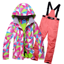 HOTIAN Ski Suit Women Snowboard Jacket And pants Windproof Waterproof Outdoor Set For