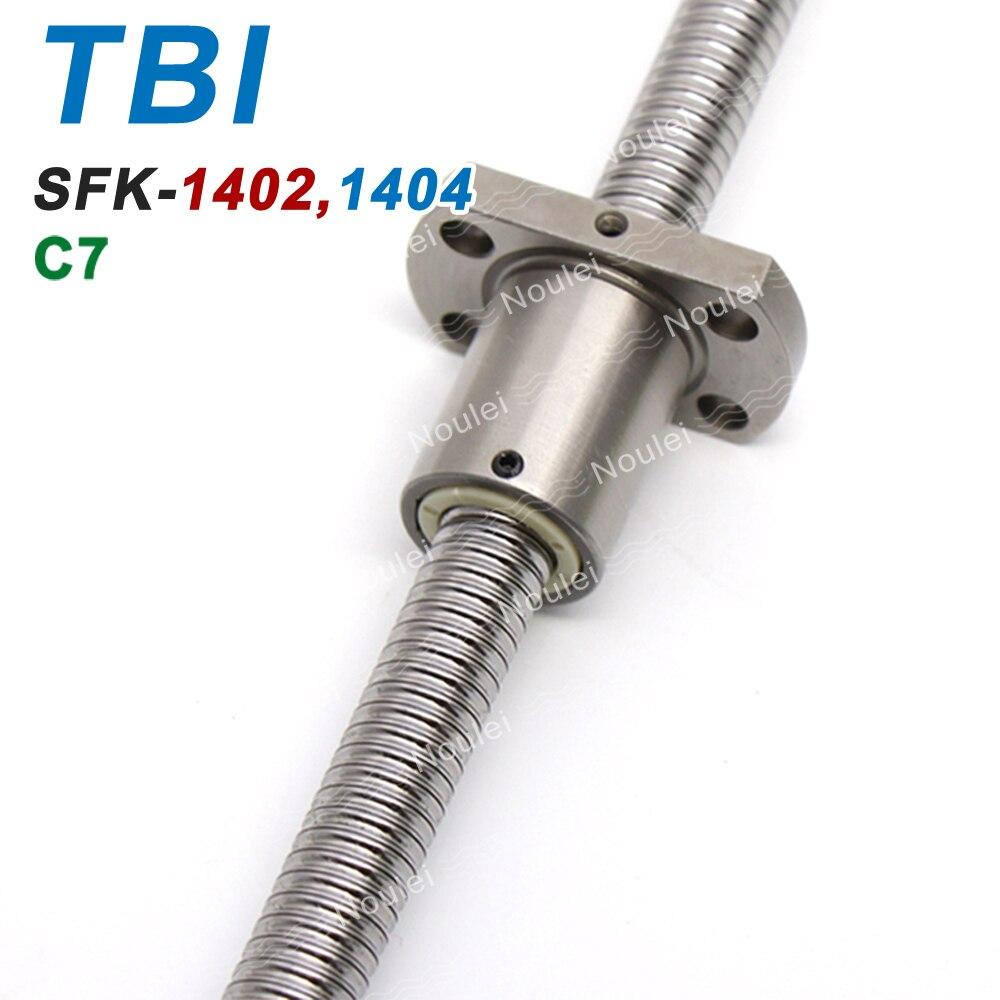 TBI C7 SFK 1402 1404 Miniature Ball Screws 400mm 600mm with Ballnut SFK1402 SFK1404 14mm ballscrew 2mm 4mm Lead цена
