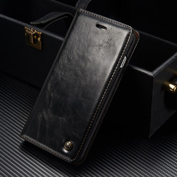 CaseMe Original Brand Leather Phone Cases For Apple iphone 7 Plus case iphone 7 / 7Plus case Coque Card Wallet Protective Cover 2