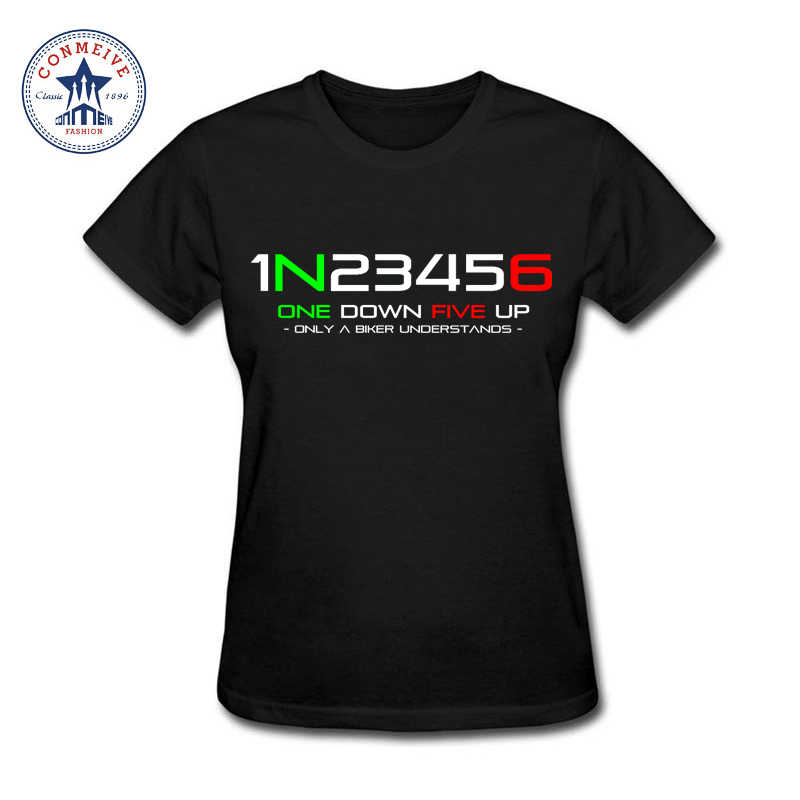 Fashion Summer Style 1N23456 Motorcycle Cotton funny t shirt women
