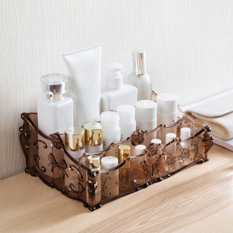 Cosmetics Storage Box and Desktop Finishing Storage Box YF2018