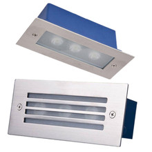 Waterproof  3*2W LED Stair Light Recessed Led Step Underground lamp Garden Porch Wall light Villia Pathway Footlight