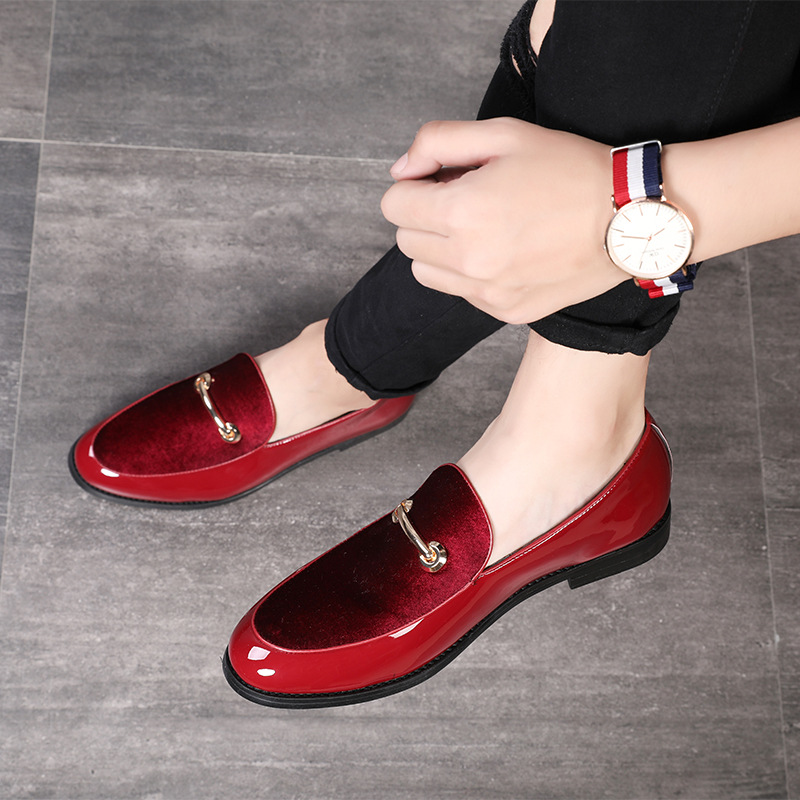 M-anxiu 2018 Fashion Pointed Toe Dress Shoes Men Loafers Patent Leather Oxford Shoes for Men Formal Mariage Wedding Shoes 1