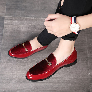Image 2 - M anxiu chaussures Oxford en cuir verni pour hommes, chaussures habillées à bout pointu, mocassins pour mariages formels, collection 2020