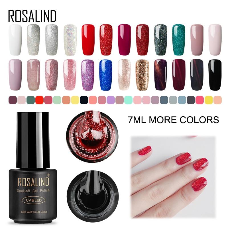 Rosalind 7 ml UV gel Lacker nagellack Set för manikyr Gellak semi permanent Hybrid naglar ART från prime white gel nagellack