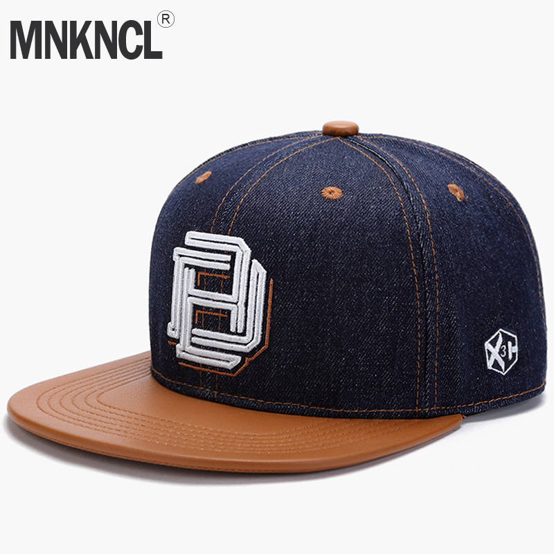 MNKNCL High Quality Snapback   Cap   Letter Embroidery Brand Flat Brim   Baseball     Cap   Fashion Hip Hop   Cap   and Hat For Men and Woman