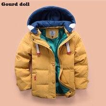 Новая одежда мода зима Дети мальчики куртки Верхняя Одежда Пальто куртки для мальчика 3 Цвета Хлопок Рождество дети мальчиков одежда
