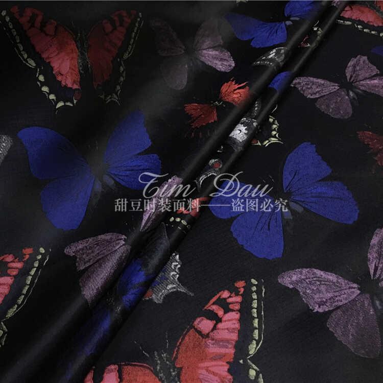 Бабочка жаккардовые ткани парчи четкие платье куртка DIY хлопчатобумажные ткани оптовая продажа высокое качество ткани жаккард