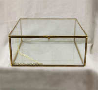Cuboid Glass Box And Jewelry Display Case Handmade Crafts Gift Of Creative Jewelry Glass Container For