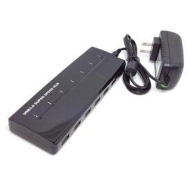 20 unidades/lotes 7 porto de alta velocidade USB 3.0 Hub Power Adapter eua para Windows e Mac para preto, Frete grátis por Fedex