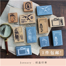 moodtape vintage wood clear stamp for DIY scrapbooking/photo album Decorative Messenger TodayTea camera rubber seal