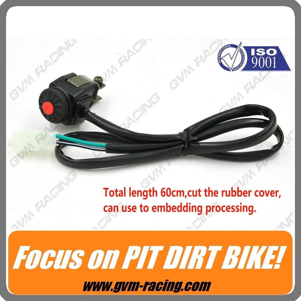 perfk Universel Interrupteur dArr/êt de Moteur Pi/èce Rechange Mini Moto Dirt Bike