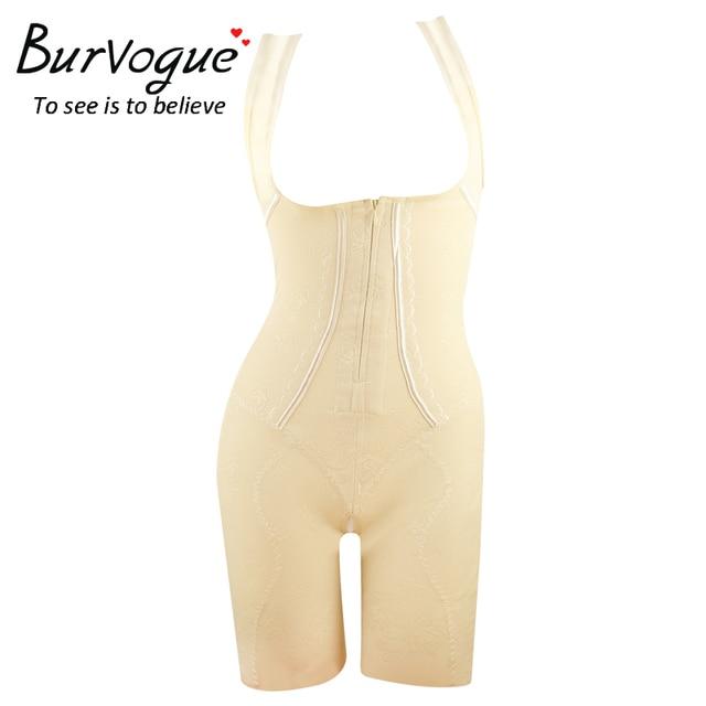 Burvogue горячая шейперы женщины молнией и клип всего тела формирователь похудения талии формирователь и пластика триммер прикладом подъемник формирователь Shapewear