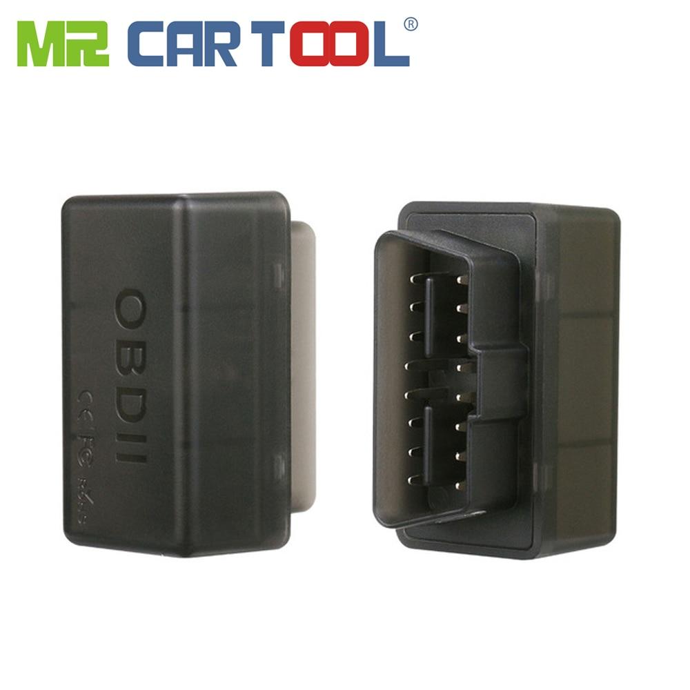 Mr Cartool Neue Schwarz Mini WiFi ELM327 OBD2 II ODB 2 Auto Auto Diagnosescan-werkzeug Mini EML ULME 327 wifi Für iPhone iPod Android