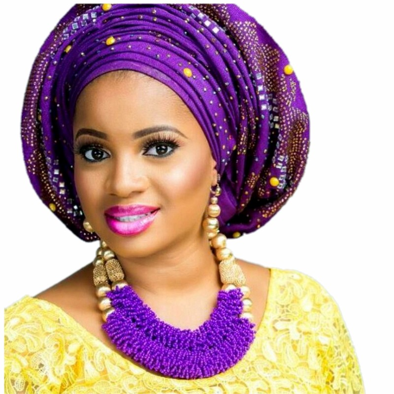 Purple Fine Jewelry Sets For Women Gold Color Balls African Set Jewelry Nigerian Wedding Beads Sets