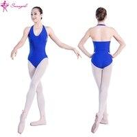 Royal Blue Hedging Ballet Leotards For Women Girls Ballet Clothes Womens Dance Leotards Ballet Costumes For