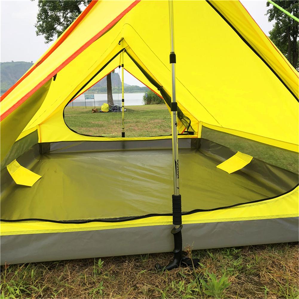 En plein air Sans Tige Portable Un En Forme de Camping Tente Simple Couche Tente Ultra Lumière Équipement de Plein Air Matériel de Camping