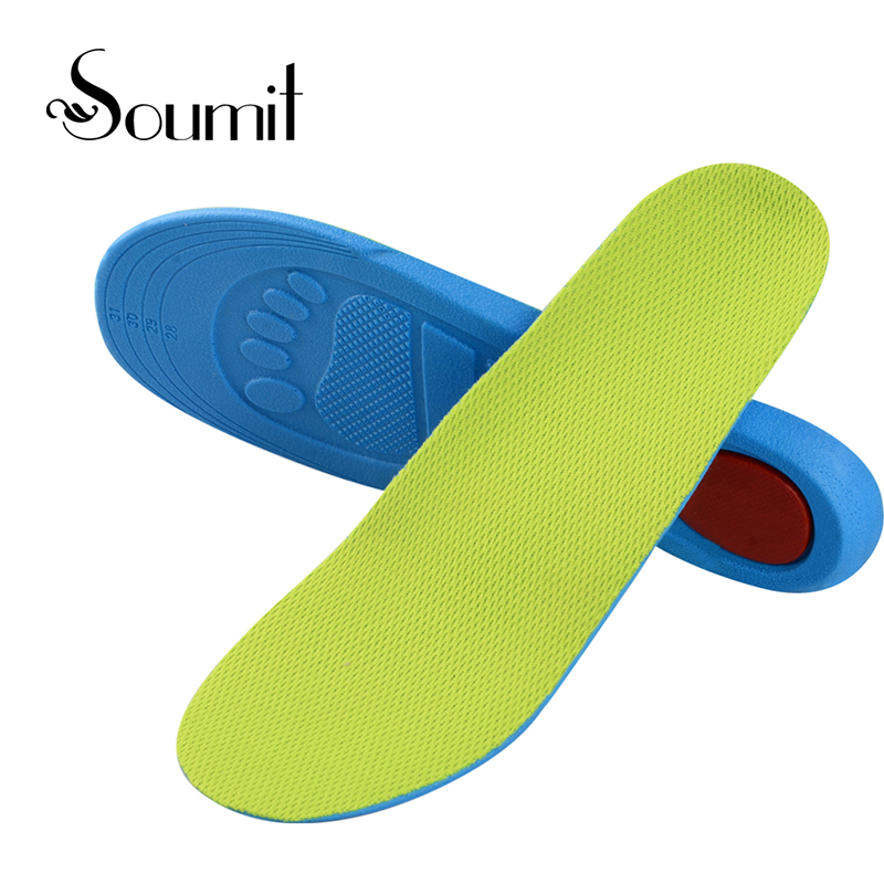Soumit Premium Kid Children Orthopedic Insoles Arch Support Orthotic Pad Correction Flatfoot O/ X Leg Eight Leg Feet Care Insole kids children pu orthopedic insoles for children shoes flat foot arch support orthotic pads correction health feet care w046