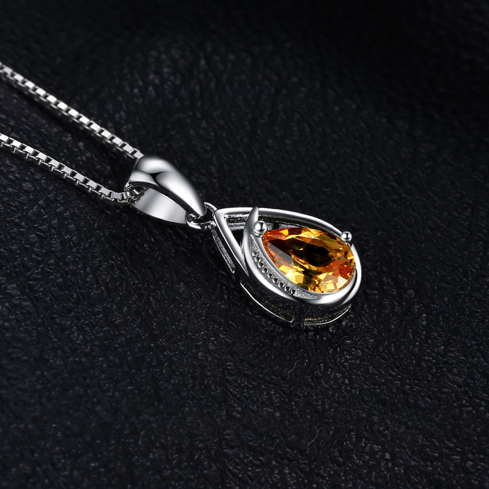 Jewelrypalace elegant 095ct created orange sapphire pendant jewelrypalace elegant 095ct created orange sapphire pendant necklace pure 925 sterling silver fine jewelry not aloadofball Gallery